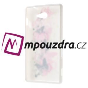 Gélové puzdro na Sony Xperia M2 D2302 - motýlí květ - 7