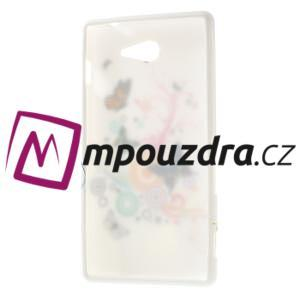 Gélové puzdro pre Sony Xperia M2 D2302 - farební motýľe - 7
