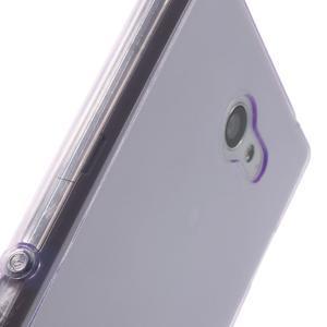Gélové Ultraslim puzdro na Sony Xperia M2 D2302- fialové - 7