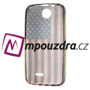 Gélové puzdro na HTC Desire 310- USA vlajka - 7