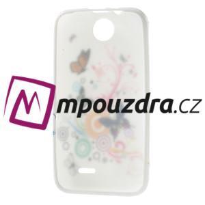 Gélové puzdro na HTC Desire 310- farebné motýlci - 7