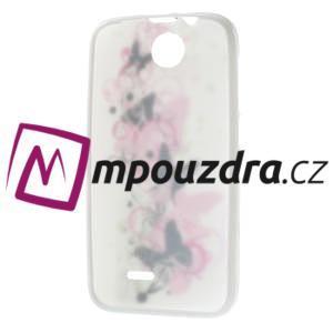 Gélové puzdro pre HTC Desire 310- motýľ kvet - 7