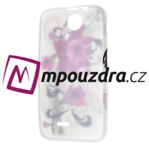 Gélové puzdro pre HTC Desire 310- fialový kvet - 7