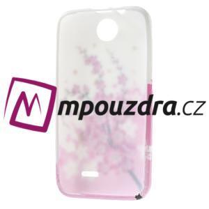 Gélové puzdro pre HTC Desire 310- kvitnúca vetva - 7