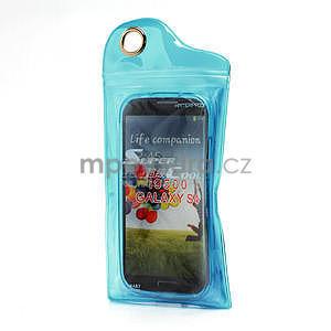 Gélové matné puzdro na Samsung Galaxy S4 i9500- modré - 7