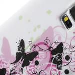Gélové puzdro pre Samsung Galaxy S5- motýl kvetina - 7/7