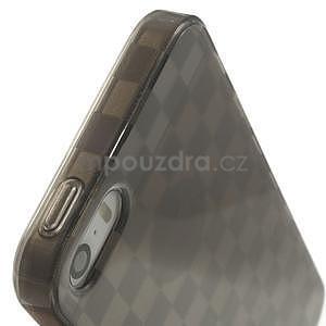 Gel-kostkaté puzdro pre iPhone 5, 5s- sivé - 7