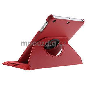 PU kožené 360° puzdro pre iPad mini- červené - 7
