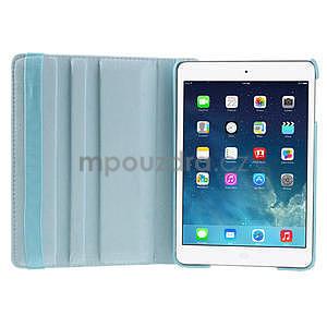 PU kožené 360° puzdro pre iPad mini- modré - 7