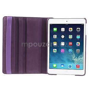 PU kožené 360° puzdro pre iPad mini- fialové - 7