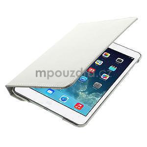 PU kožené 360° puzdro pre iPad mini- biele - 7