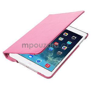 PU kožené 360° puzdro pre iPad mini- růžové - 7