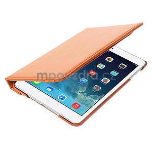 PU kožené 360° puzdro pre iPad mini- oranžové - 7