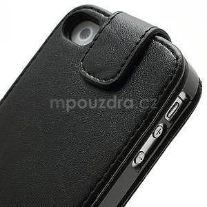 Flipové puzdro pre iPhone 4, 4s- čierné - 7