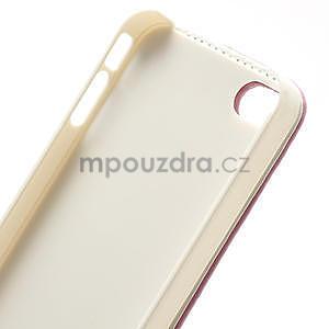 Flipové puzdro pre iPhone 4, 4s- svetleružové - 7
