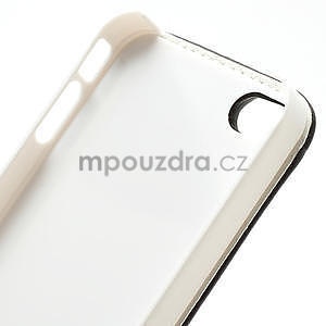 Flipové puzdro pre iPhone 4, 4s- coffe - 7