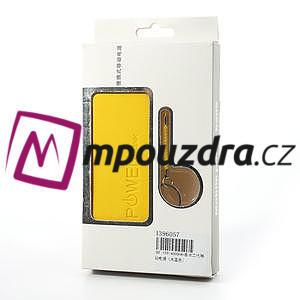 4000mAh externí baterie Power Bank - žltá - 7