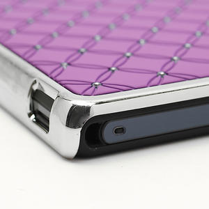 Drahokamové puzdro na Sony Xperia Z L36i C6603- fialové - 7
