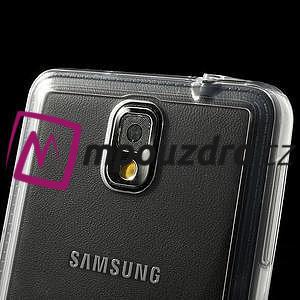 Gélové hybrid puzdro na Samsung Galaxy Note 3- transparentný - 7