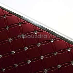 Drahokamové puzdro pre HTC one M7- červené - 7