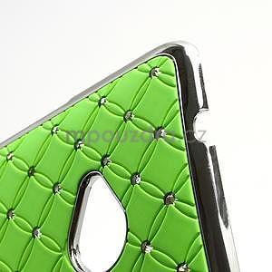 Drahokamové puzdro pre HTC one M7- zelené - 7