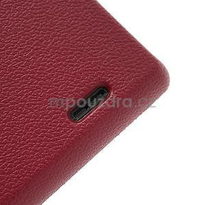 Texturované puzdro pre LG Optimus L7 P700- červené - 7