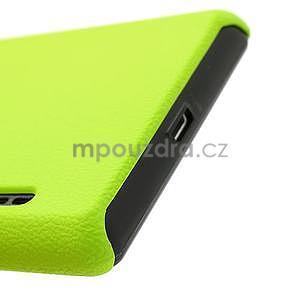 Texturované puzdro pre LG Optimus L7 P700- zelené - 7