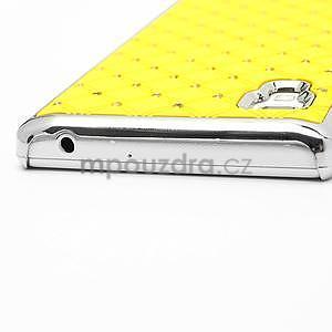 Drahokamové puzdro pre LG Optimus L9 P760- žlté - 7