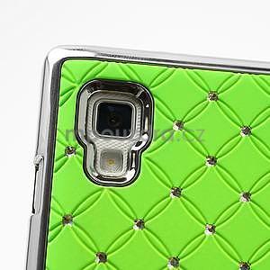 Drahokamové puzdro pre LG Optimus L9 P760- zelené - 7