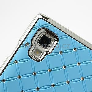 Drahokamové puzdro pre LG Optimus L9 P760- svetlo modré - 7