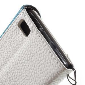 Luxusní peněženkové pouzdro na Huawei P8 Lite - bílé / modré - 7