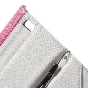 Luxusní peněženkové pouzdro na Huawei P8 Lite - bílé / rose - 7