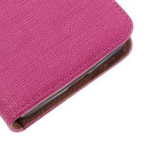 Cloth PU kožené puzdro na mobil Microsoft Lumia 550 - rose - 7