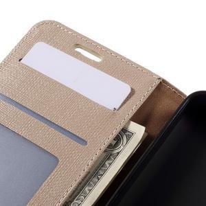 Cloth PU kožené puzdro na mobil Microsoft Lumia 550 - champagne - 7