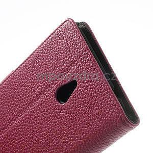 Peňaženkové puzdro pre Nokia Lumia 1320- ružové - 7