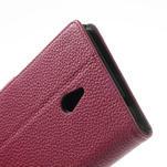 Peňaženkové puzdro pre Nokia Lumia 1320- ružové - 7/7