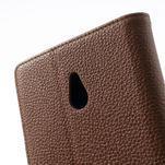 Peňaženkové puzdro pre Nokia Lumia 1320- hnedé - 7/7