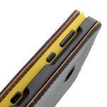 Flipové čierné puzdro na Nokia Lumia 520 - 7/7
