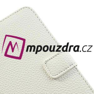 Peňaženkové puzdro na Nokia Lumia 625 - biele - 7
