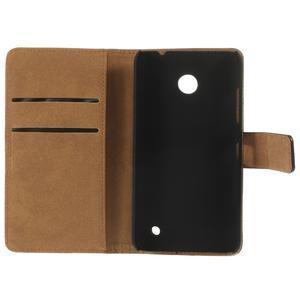 Peňaženkové puzdro na Nokia Lumia 630- čierné - 7