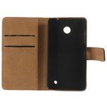 Peňaženkové puzdro na Nokia Lumia 630- čierné - 7/7