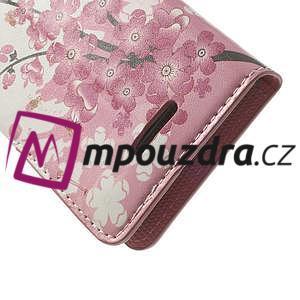 Peňaženkové puzdro na Sony Xperia L C2105- kvetoucí větvička - 7