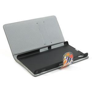 Peněženkové pouzdro na Sony Xperia Z1 C6903 L39- barevné květy - 7
