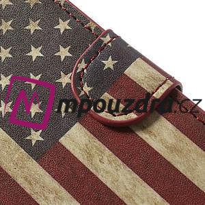 Peňaženkové puzdro pre Sony Xperia Z1 Compact D5503 - USA vlajka - 7