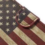 Peněženkové pouzdro na Sony Xperia Z1 Compact D5503 - USA vlajka - 7/7