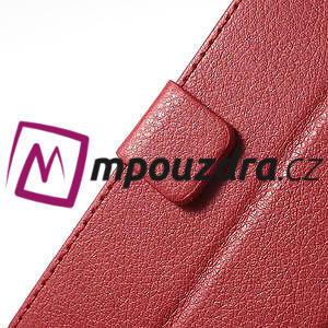 Peňaženkové puzdro na LG Optimus L9 II D605 - červené - 7