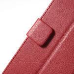 Peňaženkové puzdro na LG Optimus L9 II D605 - červené - 7/7