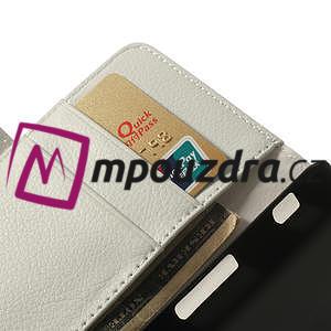 Peňaženkové puzdro na LG Optimus F6 D505 - biele - 7