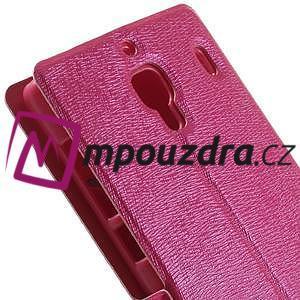 Peňaženkové puzdro na Xiaomi Hongmi Red Rice- růžové - 7