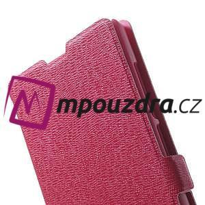 Peňaženkové puzdro na Xiaomi Hongmi Note- růžové - 7
